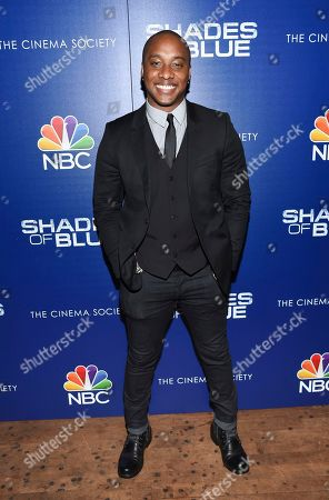 """Actor Hampton Fluker attends the """"Shades of Blue"""" season two premiere, hosted by NBC and The Cinema Society, at The Roxy Cinema, in New York"""