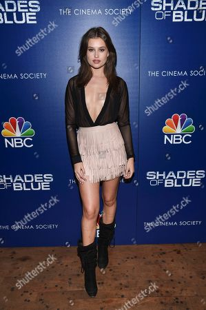 """Stock Photo of Model Lexi Wood attends the """"Shades of Blue"""" season two premiere, hosted by NBC and The Cinema Society, at The Roxy Cinema, in New York"""