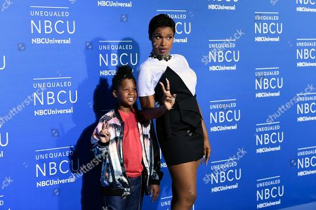 Actress and singer Jennifer Hudson and her son David Daniel Otunga Jr. attend the NBCUniversal Network 2017 Upfront at Radio City Music Hall, in New York