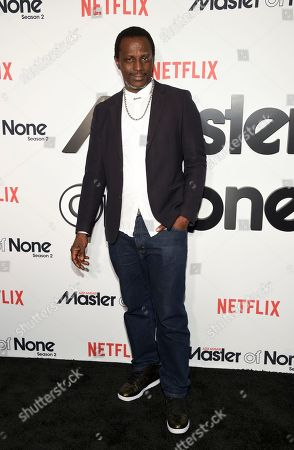 "Stock Photo of Actor Souleymane Sy Savane attends Netflix's ""Master of None"" season two premiere at the SVA Theatre, in New York"