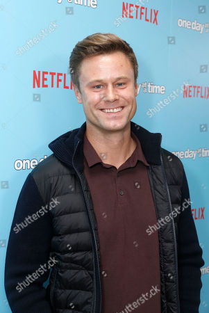 """Eric Nenninger seen at Netflix """"One Day at a Time"""" S1 Premiere at The London West Hollywood, in West Hollywood, Calif"""