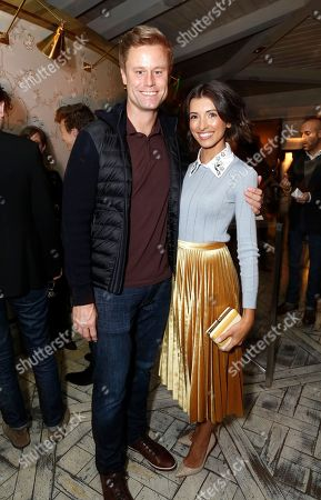 """Eric Nenninger and India de Beaufort seen at Netflix """"One Day at a Time"""" S1 Premiere After Party at The London West Hollywood, in West Hollywood, Calif"""