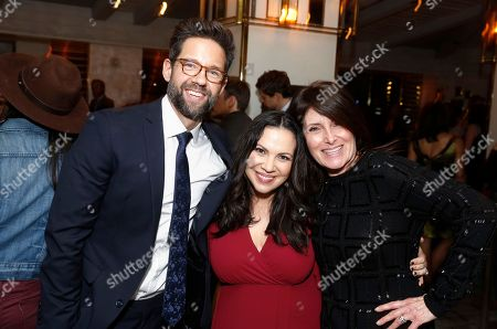 """Todd Grinnell, Executive Producer Gloria Calderon Kellett and Director Pamela Fryman seen at Netflix """"One Day at a Time"""" S1 Premiere After Party at The London West Hollywood, in West Hollywood, Calif"""