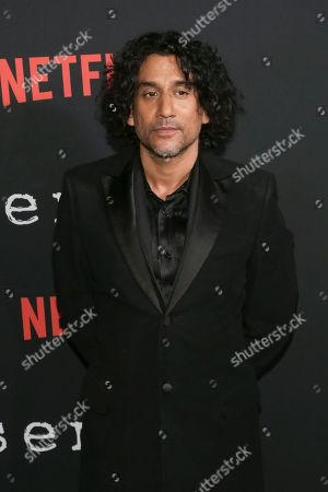 """Stock Image of Actor Naveen Andrews attends the Netflix """"Sense8"""" Season 2 premiere at AMC Loews Lincoln Square, in New York"""