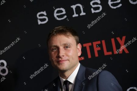 """Actor Max Riemelt attends the Netflix """"Sense8"""" Season 2 premiere at AMC Loews Lincoln Square, in New York"""