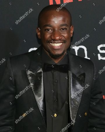 """Stock Image of Actor Paul Ogola attends the Netflix """"Sense8"""" Season 2 premiere at AMC Loews Lincoln Square, in New York"""