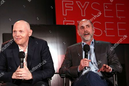 Bill Burr and Victor Fresco seen at the Netflix Comedy FYSee panel Q&A at the FYSee exhibit space, in Los Angeles