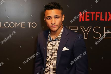Brandon Perea arrives at the Netflix FYSee Kick-Off Event, in Beverly Hills, Calif