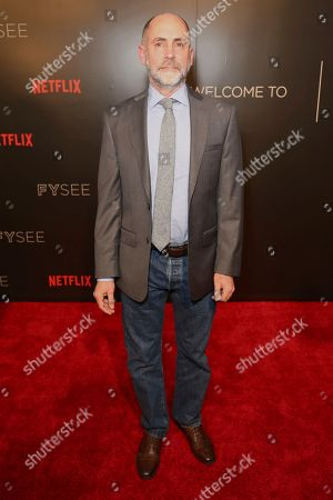 Victor Fresco arrives at the Netflix FYSee Kick-Off Event, in Beverly Hills, Calif