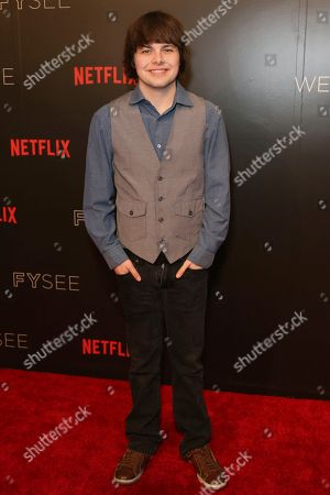 Brendan Meyer arrives at the Netflix FYSee Kick-Off Event, in Beverly Hills, Calif