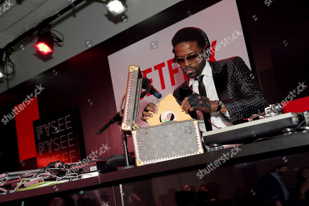 Stock Image of Adrian Younge seen at Netflix FYSee Kickoff Event, an experiential exhibition space, bringing the best of Netflix series to life for industry and guild members leading into Emmy voting season,, in Beverly Hills, Calif
