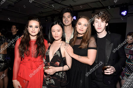 Katherine Langford, Michele Selene Ang, Ross Butler, Hannah Payne and Devin Druid seen at Netflix FYSee Kickoff Event, an experiential exhibition space, bringing the best of Netflix series to life for industry and guild members leading into Emmy voting season,, in Beverly Hills, Calif