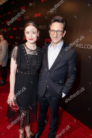 Stock Photo of Gillian Jacobs and Paul Rust seen at Netflix FYSee Kickoff Event, an experiential exhibition space, bringing the best of Netflix series to life for industry and guild members leading into Emmy voting season,, in Beverly Hills, Calif