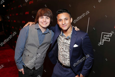 Brendan Meyer and Brandon Perea seen at Netflix FYSee Kickoff Event, an experiential exhibition space, bringing the best of Netflix series to life for industry and guild members leading into Emmy voting season,, in Beverly Hills, Calif