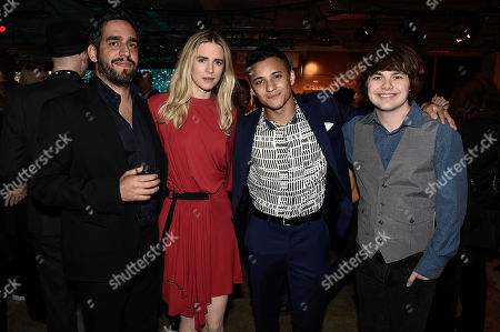 Zal Batmanglij, Brit Marling, Brandon Perea and Brendan Meyer seen at Netflix FYSee Kickoff Event, an experiential exhibition space, bringing the best of Netflix series to life for industry and guild members leading into Emmy voting season,, in Beverly Hills, Calif