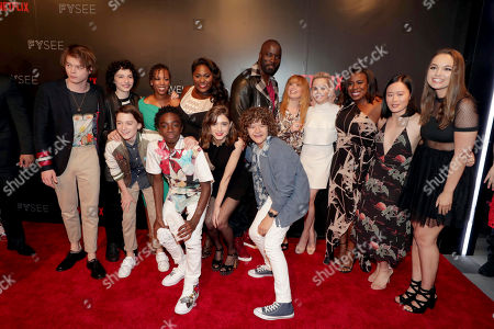 Charlie Heaton, Finn Wolfhard, Noah Schnapp, Samira Wiley, Caleb McLaughlin, Danielle Brooks, Natalia Dyer, Mike Colter, Gaten Matarazzo, Natasha Lyonne, Taryn Manning, Uzo Aduba and Michele Selene Ang and Hannah Payne seen at Netflix FYSee Kickoff Event, an experiential exhibition space, bringing the best of Netflix series to life for industry and guild members leading into Emmy voting season,, in Beverly Hills, Calif