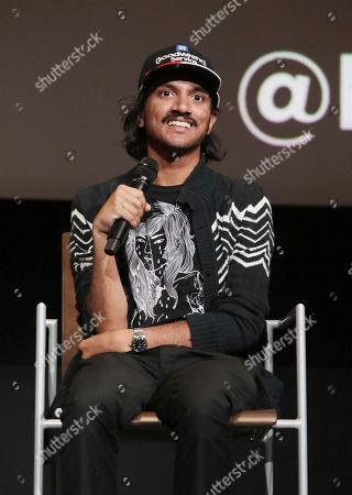 "Stock Image of Aniz Ansari seen at Netflix original series ""Master of None"" ATAS panel at the Wolf Theater at Saban Media Center, in Los Angeles, CA"
