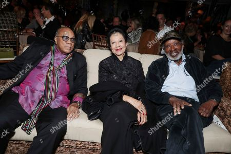"""Quincy Jones, Jacqueline Avant and Clarence Avant seen at Netflix's original documentary """"13TH"""" reception hosted by Netflix Chief Content Officer Ted Sarandos and Ambassador Nicole Avant with a special conversation moderated by Oprah Winfrey with director Ava DuVernay and Van Jones], in Los Angeles, CA"""
