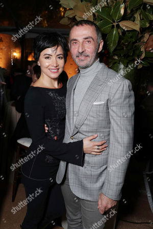 """Lorena Mendoza and Shaun Toub seen at Netflix's original documentary """"13TH"""" reception hosted by Netflix Chief Content Officer Ted Sarandos and Ambassador Nicole Avant with a special conversation moderated by Oprah Winfrey with director Ava DuVernay and Van Jones], in Los Angeles, CA"""
