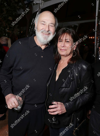 """Rob Reiner and Michele Singer Reiner seen at Netflix's original documentary """"13TH"""" reception hosted by Netflix Chief Content Officer Ted Sarandos and Ambassador Nicole Avant with a special conversation moderated by Oprah Winfrey with director Ava DuVernay and Van Jones], in Los Angeles, CA"""