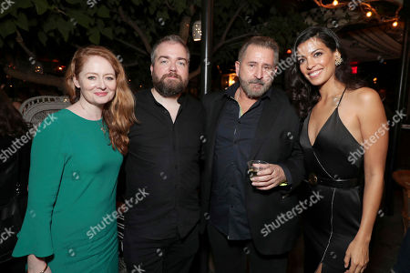 """Miranda Otto, Director David F. Sandberg, Anthony LaPaglia and Stephanie Sigman seen at New Line Cinema """"Annabelle: Creation"""" Special Advance Screening at the LA Film Festival at Ace Hotel Downtown Los Angeles, in Los Angeles"""
