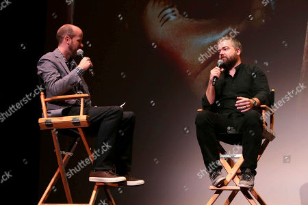 """Stock Photo of David Leslie Johnson and Director David F. Sandberg seen at New Line Cinema """"Annabelle: Creation"""" Special Advance Screening at the LA Film Festival at Ace Hotel Downtown Los Angeles, in Los Angeles"""