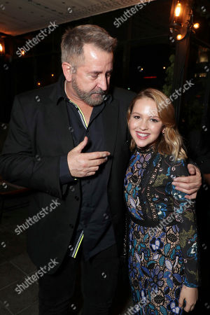 """Anthony LaPaglia and Talitha Bateman seen at New Line Cinema """"Annabelle: Creation"""" Special Advance Screening at the LA Film Festival at Ace Hotel Downtown Los Angeles, in Los Angeles"""