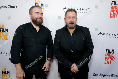 """Director David F. Sandberg and Anthony LaPaglia seen at New Line Cinema """"Annabelle: Creation"""" Special Advance Screening at the LA Film Festival at Ace Hotel Downtown Los Angeles, in Los Angeles"""