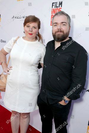 """Lotta Losten and Director David F. Sandberg seen at New Line Cinema """"Annabelle: Creation"""" Special Advance Screening at the LA Film Festival at Ace Hotel Downtown Los Angeles, in Los Angeles"""
