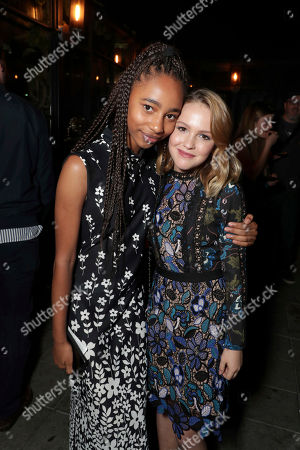 """Tayler Buck and Talitha Bateman seen at New Line Cinema """"Annabelle: Creation"""" Special Advance Screening at the LA Film Festival at Ace Hotel Downtown Los Angeles, in Los Angeles"""