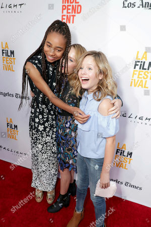 """Tayler Buck, Talitha Bateman and Lulu Wilson seen at New Line Cinema """"Annabelle: Creation"""" Special Advance Screening at the LA Film Festival at Ace Hotel Downtown Los Angeles, in Los Angeles"""