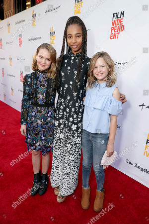 """Talitha Bateman, Tayler Buck and Lulu Wilson seen at New Line Cinema """"Annabelle: Creation"""" Special Advance Screening at the LA Film Festival at Ace Hotel Downtown Los Angeles, in Los Angeles"""