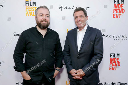 """Director David F. Sandberg and Josh Welsh, President of Film Independent, seen at New Line Cinema """"Annabelle: Creation"""" Special Advance Screening at the LA Film Festival at Ace Hotel Downtown Los Angeles, in Los Angeles"""