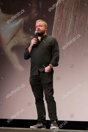 """Director David F. Sandberg seen at New Line Cinema """"Annabelle: Creation"""" Special Advance Screening at the LA Film Festival at Ace Hotel Downtown Los Angeles, in Los Angeles"""