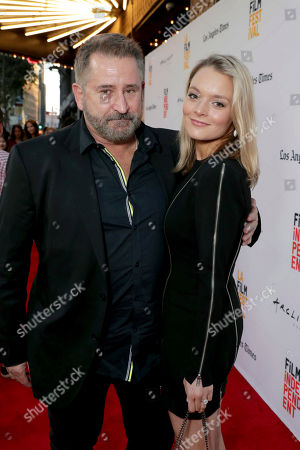 """Anthony LaPaglia and Alexandra Henkel seen at New Line Cinema """"Annabelle: Creation"""" Special Advance Screening at the LA Film Festival at Ace Hotel Downtown Los Angeles, in Los Angeles"""