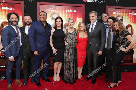 "Jason Mantzoukas, Nick Kroll, Cedric Yarbrough, Allison Tolman, Ryan Simpkins, Amy Poehler, Producer/Actor Will Ferrell, Director/Writer/Producer Andrew Jay Cohen and Andrea Savage seen at New Line Cinema Presents ""The House"" Los Angeles Premiere at TCL Chinese Theatre, in Hollywood, CA"