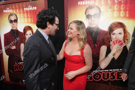 "Stock Picture of Director/Writer/Producer Andrew Jay Cohen and Amy Poehler seen at New Line Cinema Presents ""The House"" Los Angeles Premiere at TCL Chinese Theatre, in Hollywood, CA"