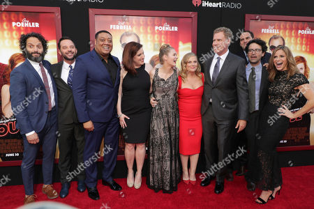 """Stock Photo of Jason Mantzoukas, Nick Kroll, Cedric Yarbrough, Allison Tolman, Ryan Simpkins, Amy Poehler, Producer/Actor Will Ferrell, Director/Writer/Producer Andrew Jay Cohen and Andrea Savage seen at New Line Cinema Presents """"The House"""" Los Angeles Premiere at TCL Chinese Theatre, in Hollywood, CA"""