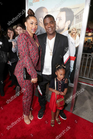 """Stock Image of Megan Wollover, Maven Sonae Morgan and Tracy Morgan seen at New Line Cinema Presents the World Premiere of """"Fist Fight"""" at Regency Village Theatre, in Los Angeles"""