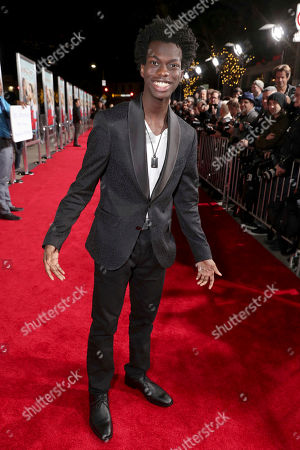 """Tim Johnson Jr seen at New Line Cinema Presents the World Premiere of """"Fist Fight"""" at Regency Village Theatre, in Los Angeles"""