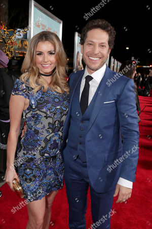"""Brianna Brown and Director Richie Keen seen at New Line Cinema Presents the World Premiere of """"Fist Fight"""" at Regency Village Theatre, in Los Angeles"""