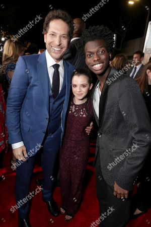"""Director Richie Keen, Alexa Nisenson and Tim Johnson Jr seen at New Line Cinema Presents the World Premiere of """"Fist Fight"""" at Regency Village Theatre, in Los Angeles"""