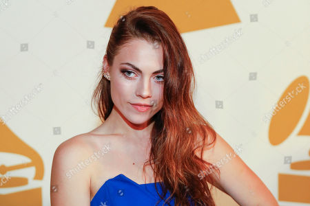Emily Weisband arrives at the nominee party for the 59th Annual Grammy Awards at Loews Vanderbilt Hotel, in Nashville, Tenn