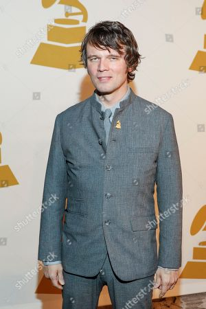 Luther Dickinson arrives at the nominee party for the 59th Annual Grammy Awards at Loews Vanderbilt Hotel, in Nashville, Tenn