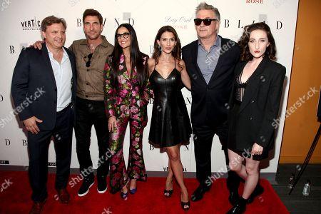 "Michael Mailer, from left, Dylan McDermott, Demi Moore, Hilaria Baldwin, Alec Baldwin and Eden Epstien attend the premiere of ""Blind"" at Landmark Sunshine Cinema, in New York"