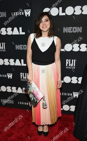 "Actress Krysta Rodriguez attends the premiere of ""Colossal"" at AMC Loews Lincoln Square on Tuesday, March, 28, 2017, in New York"