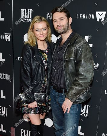 """John Buffalo Mailer and guest attend the premiere of """"Colossal"""" at AMC Loews Lincoln Square on Tuesday, March, 28, 2017, in New York"""