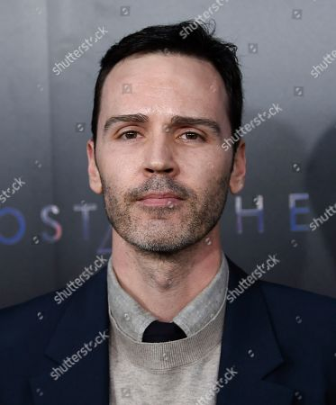 """Stock Image of Screenwriter Jamie Moss attends the premiere of """"Ghost in the Shell"""" at AMC Loews Lincoln Square, in New York"""