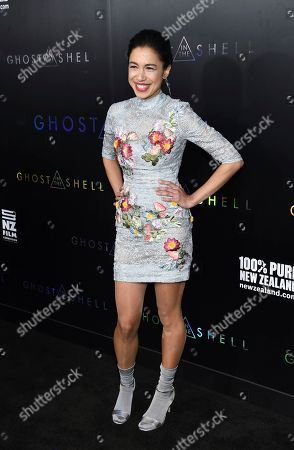 """Actress Danusia Samal attends the premiere of """"Ghost in the Shell"""" at AMC Loews Lincoln Square, in New York"""