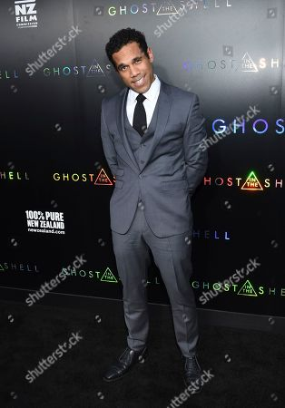 "Actor Lasarus Ratuere attends the premiere of ""Ghost in the Shell"" at AMC Loews Lincoln Square, in New York"